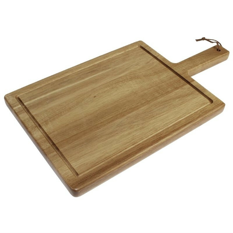 plank met handvat acacia 25 x 17,5 cm