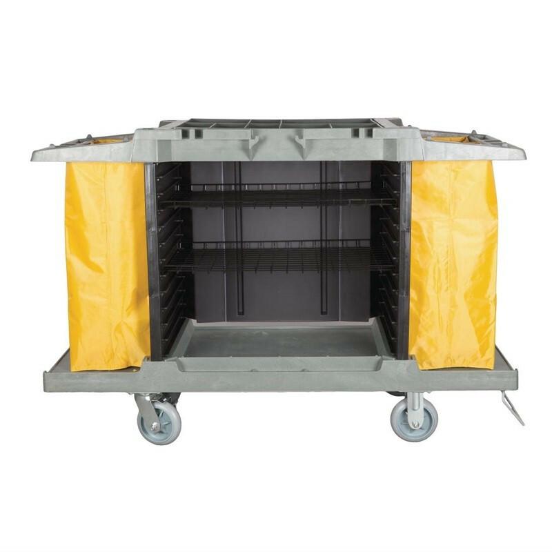 Jantex huishoudwagen 2 x 77 Ltr zakken
