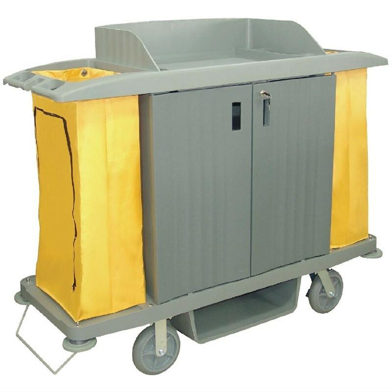 Jantex huishoudwagen met deuren 2 x 90 Ltr zakken