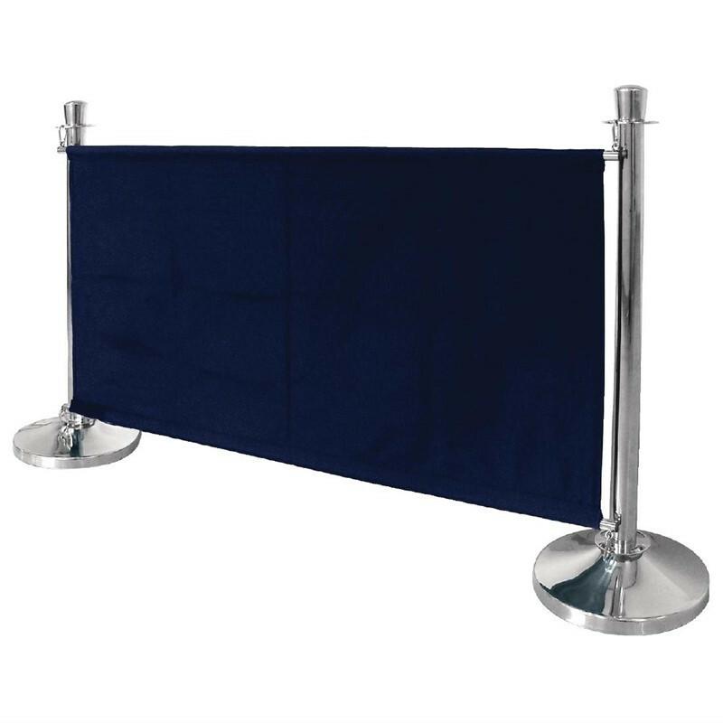 afzetdoek donkerblauw 143 x 70(h) cm