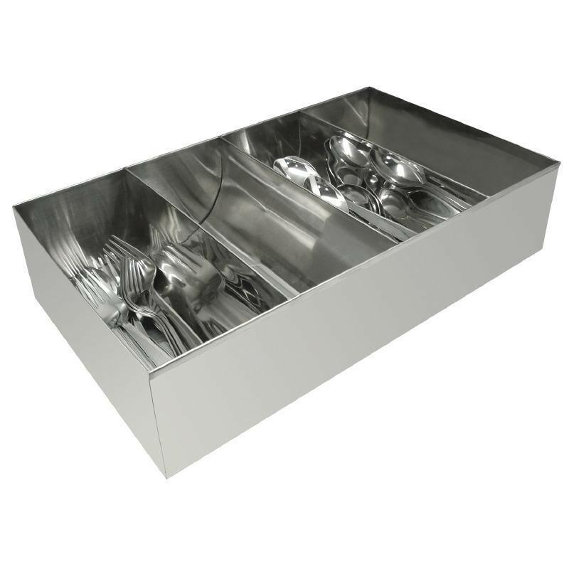 bestekbak RVS 41,5 x 25,5 cm
