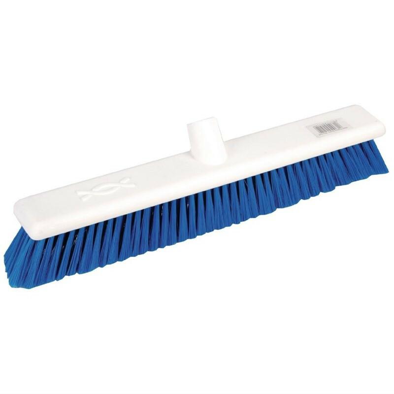 Jantex zachte hygiënische bezem blauw 45 cm