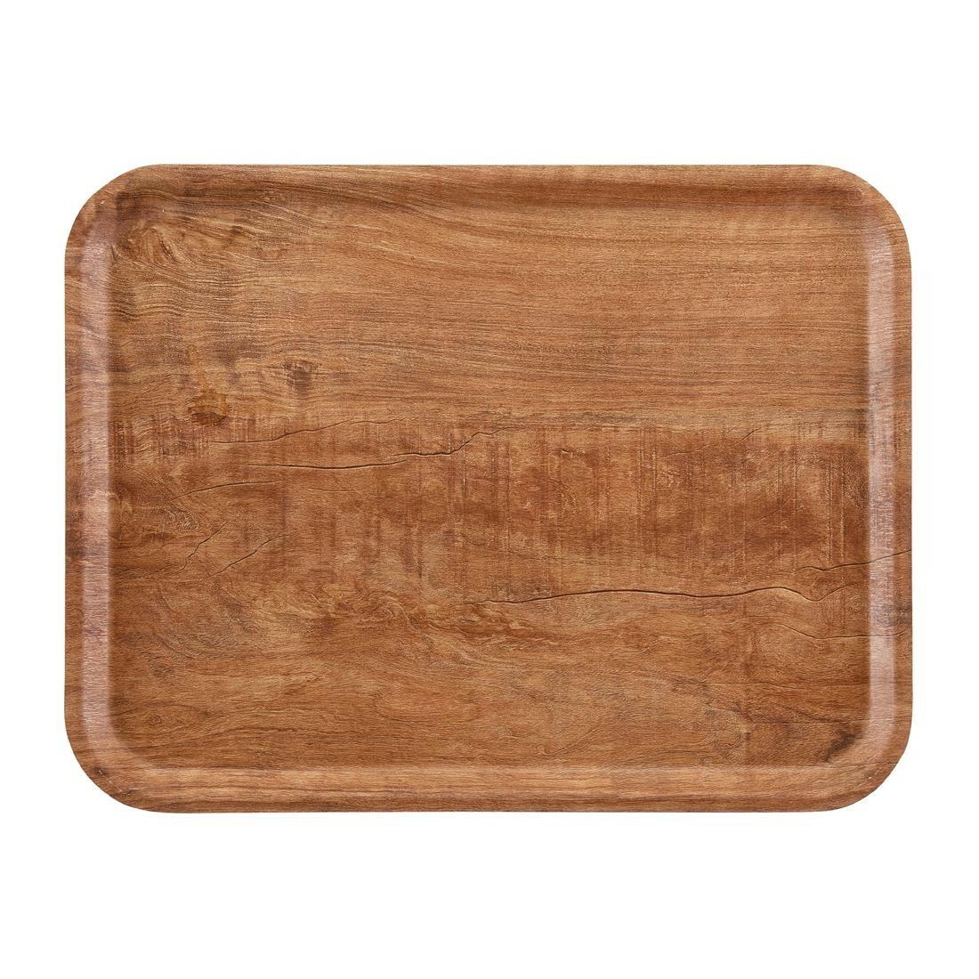 Cambro rechthoekig dienblad bruin olijf 43 x 33 cm