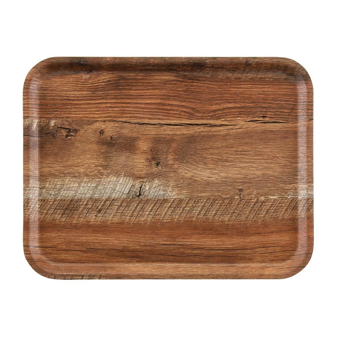 Cambro rechthoekig dienblad bruin eiken 43 x 33 cm