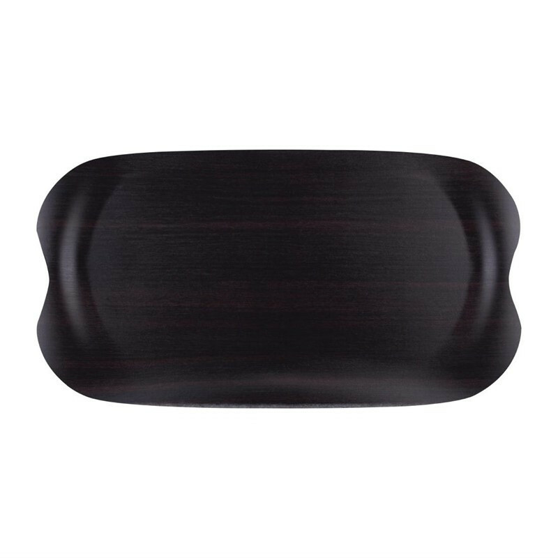 Roltex Earth Tray Wave donker hout 43 x 23 cm
