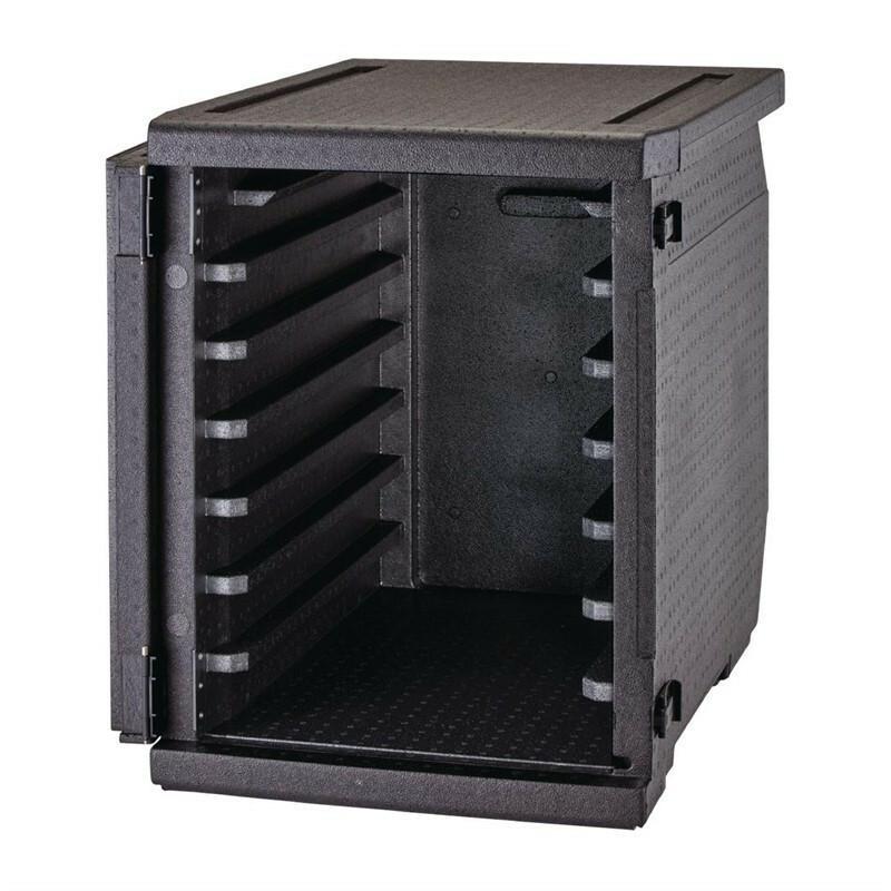 Cambro Cam Gobox thermobox voorlader, 6 rails voor 60 x 40 cm kratten