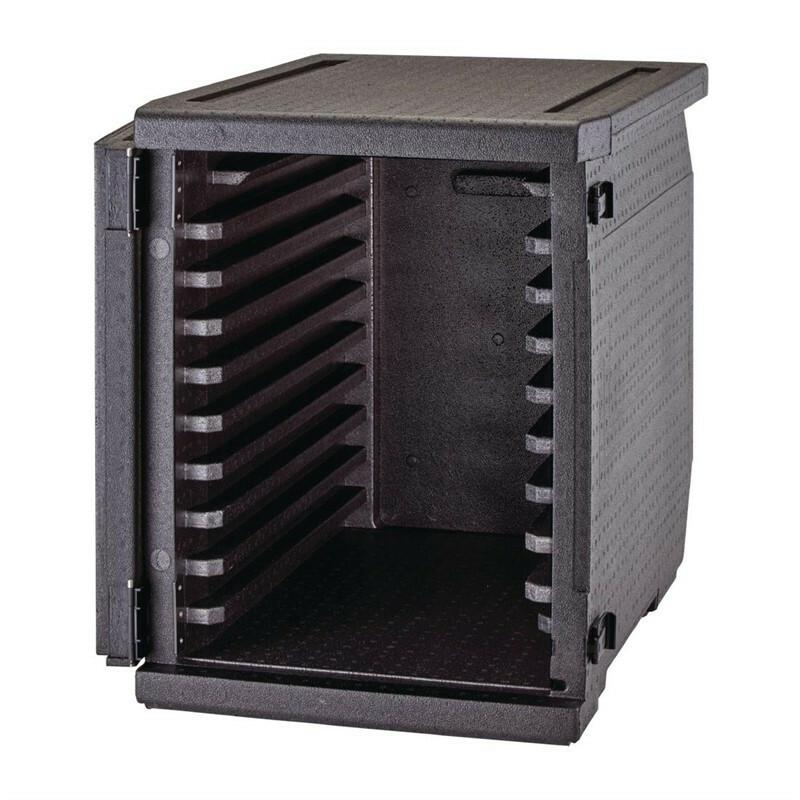 Cambro Cam Gobox thermobox voorlader, 9 rails voor 60 x 40 cm kratten, bakplaten