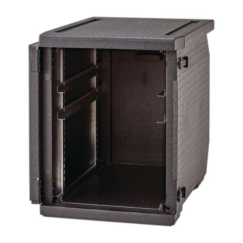Cambro Cam Gobox thermobox voorlader, verstelbare rails voor 60 x 40 cm kratten