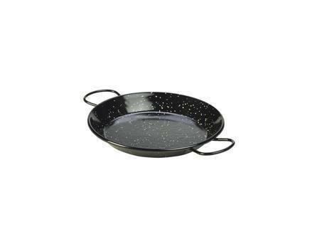 emaille paella pan zwart 20 cm