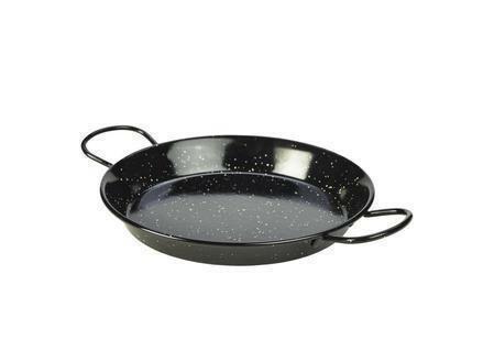 emaille paella pan zwart 26 cm