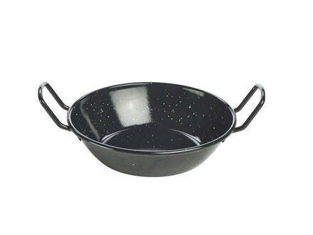 emaille wokpan 18 x 4,6(h) cm