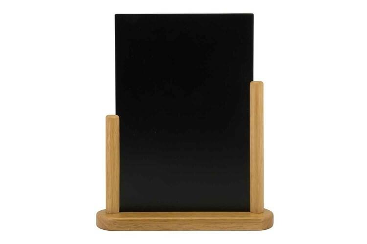 Securit krijtbord Elegant groot blank hout 27 x 7,1 x 32,3(h) cm
