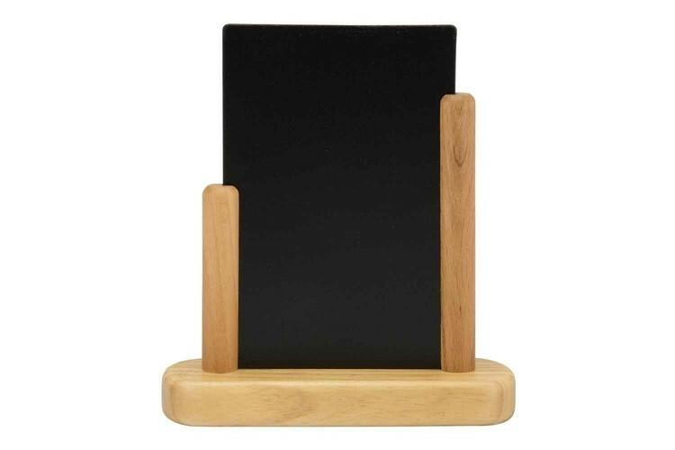 Securit krijtbord Elegant klein blank hout 15,5 x 5 x 17,5(h) cm