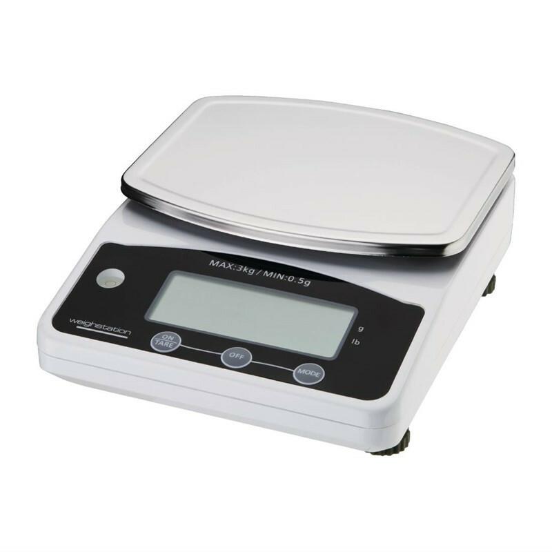 Weight Station elektronische weegschaal 3 kg in 0,5 grams stappen