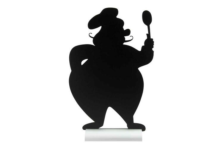 Securit krijtbord Silhouet Chef aluminium basis 22 x 6 x 34,5(h) cm