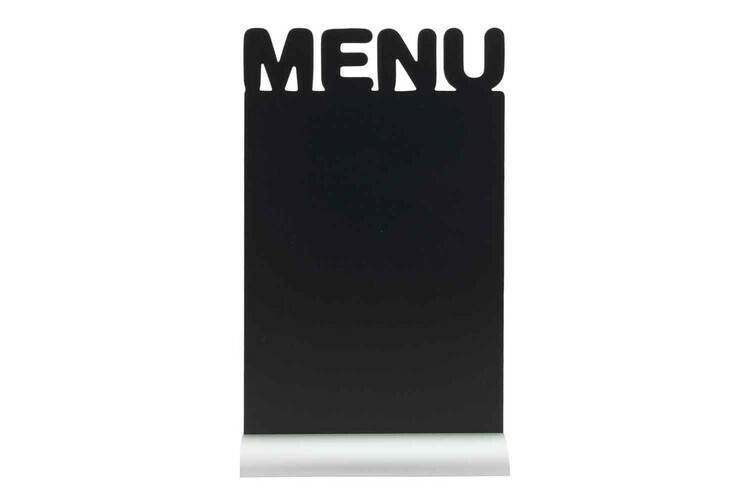 Securit krijtbord Silhouet Menu aluminium basis 21 x 6 x 34,2(h) cm