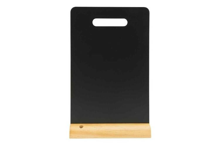 Securit krijtbord Silhouet met handvat houten basis 21 x 6 x 33,5(h) cm