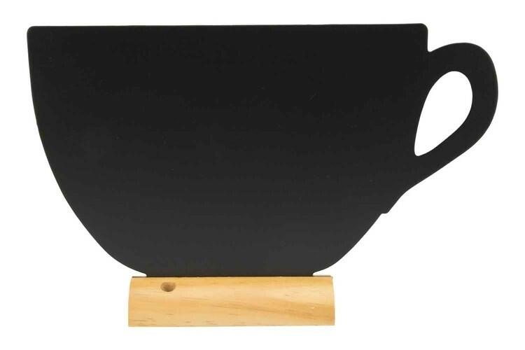 Securit krijtbord Silhouet kop groot houten basis 33,5 x 6 x 21,3(h) cm
