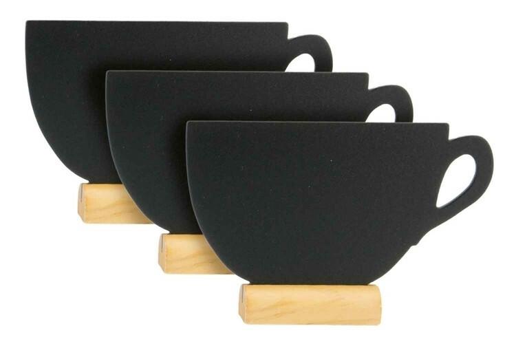 Securit krijtbord Silhouet kop klein houten basis 13,5 x 2 x 9(h) cm DOOS 3