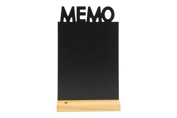 Securit krijtbord Silhouet Memo houten basis 21 x 6 x 34,5(h) cm