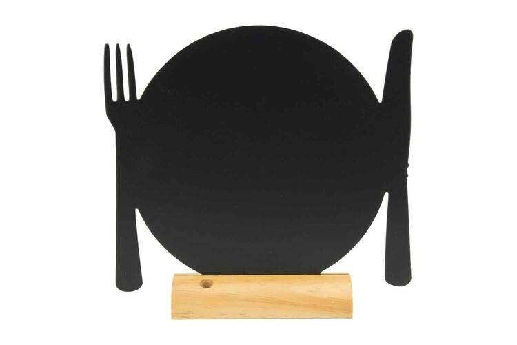 Securit krijtbord Silhouet bord groot houten basis 25,3 x6 x 24(h) cm