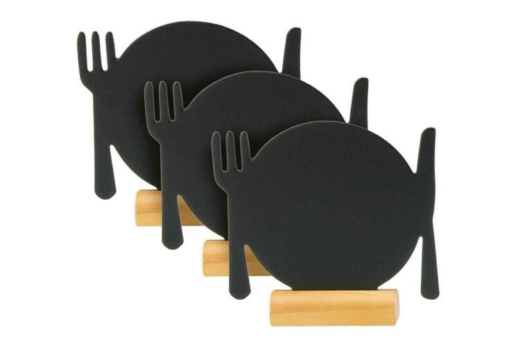 Securit krijtbord SIlhouet bord klein houten basis 10,5 x 2 x 10(h) cm DOOS 3