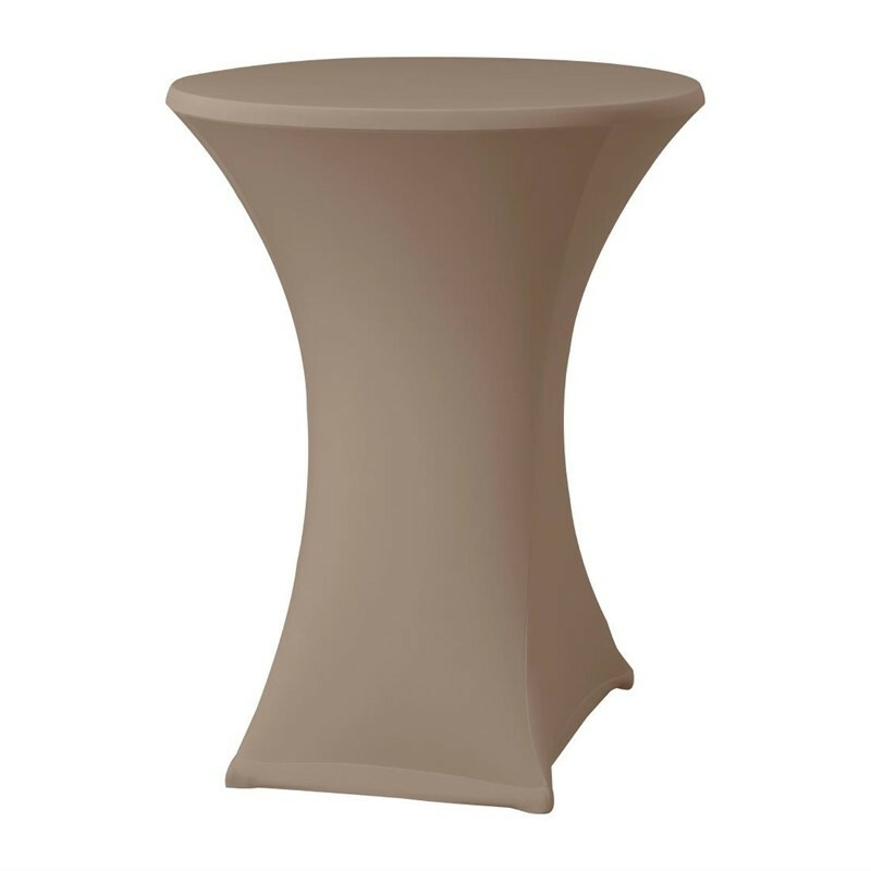 Samba stretch statafelhoes tafel max. Ø 85 x 115(h) cm TAUPE
