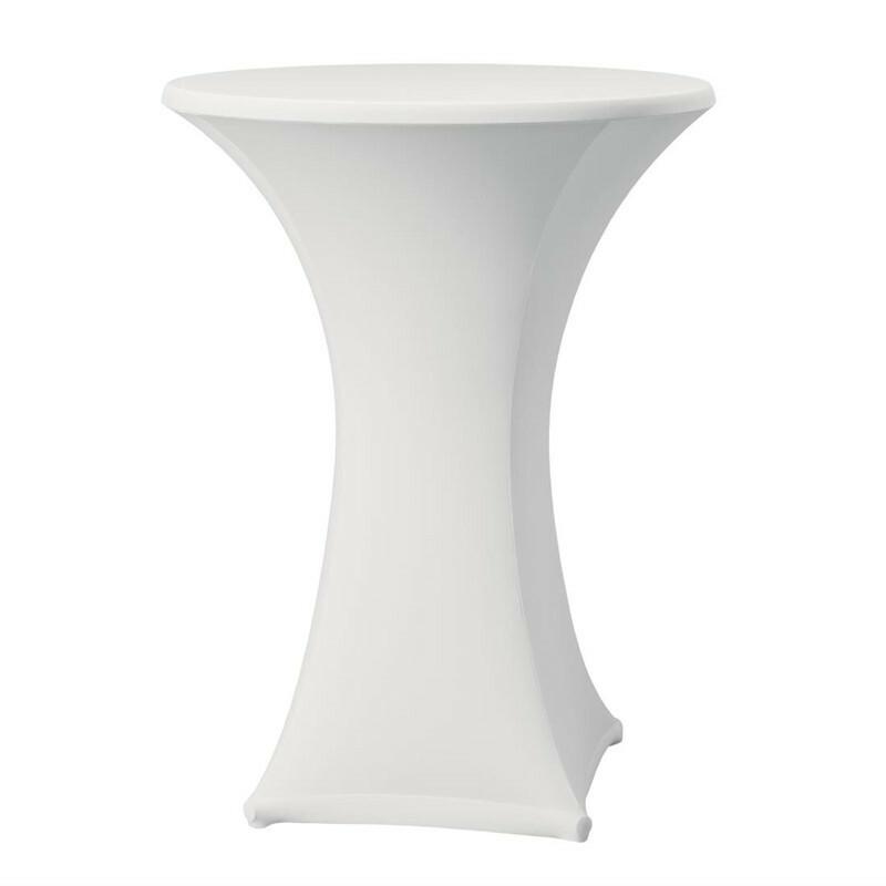 Samba stretch statafelhoes tafel max. Ø 85 x 115(h) cm WIT