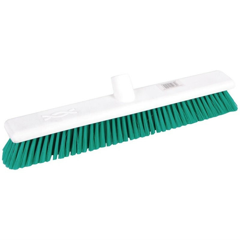 Jantex zachte hygiënische bezem groen 45 cm