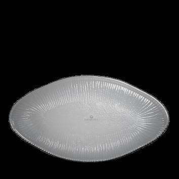 Churchill Bamboo Glass organic schaal ovaal 29,5 x 16,2 cm