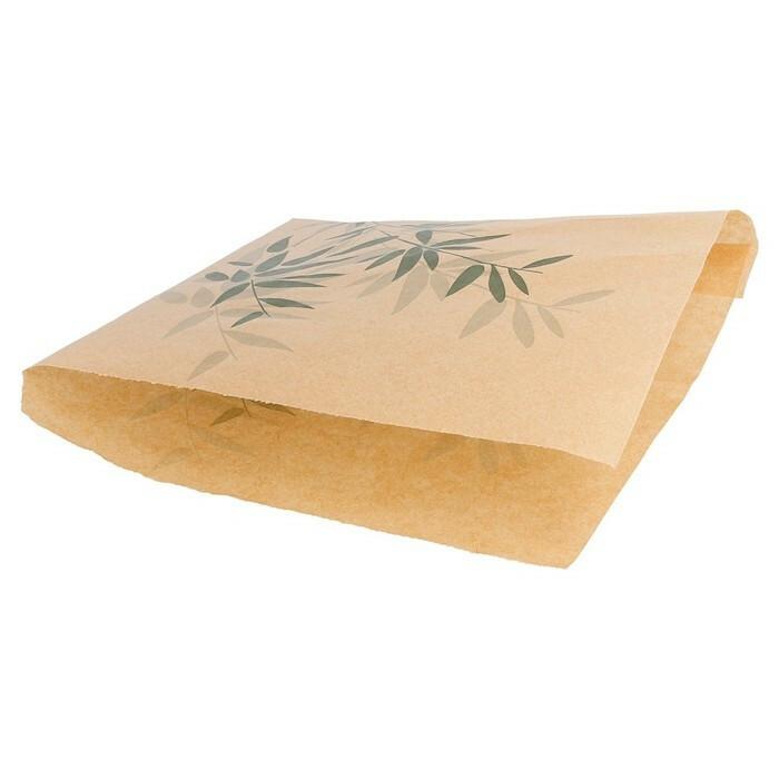 vetvrij papier friteszakje Feel Green 12 x 12 cm DOOS 1000