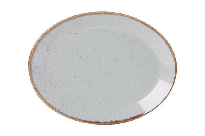 Porland Seasons Grey ovaal bord 18 x 14 cm