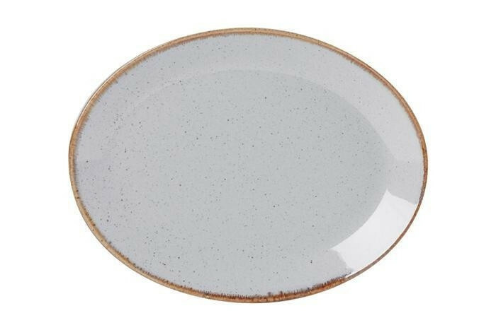 Porland Seasons Grey ovaal bord 31 x 24 cm