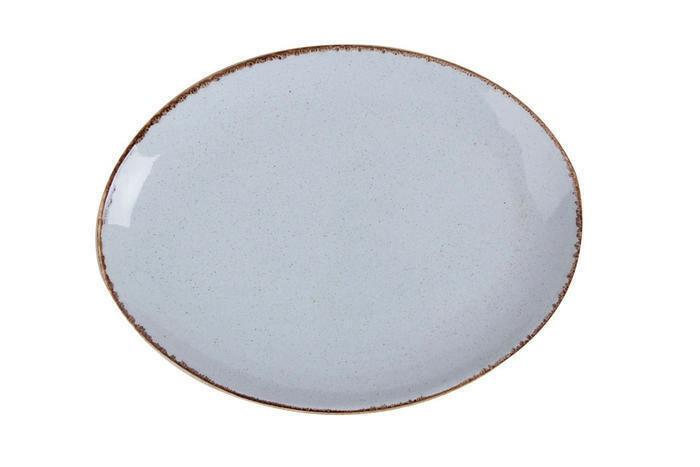 Porland Seasons Grey ovaal bord 36 x 27 cm