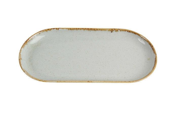 Porland Seasons Grey oblong bord 30 x 15 cm