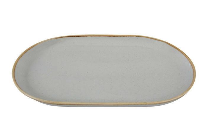 Porland Seasons Grey oblong bord 32 x 20 cm