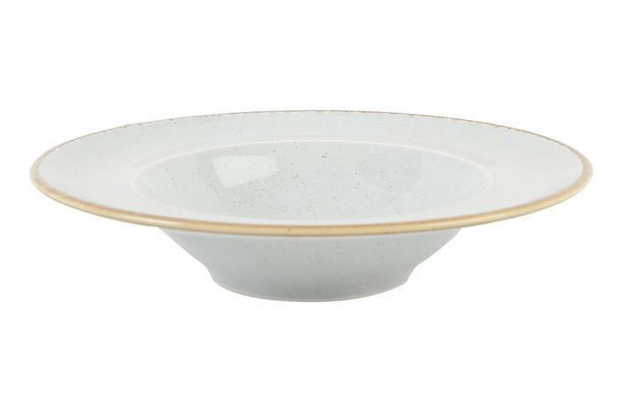 Porland Seasons Grey bord diep brede rand 25 cm