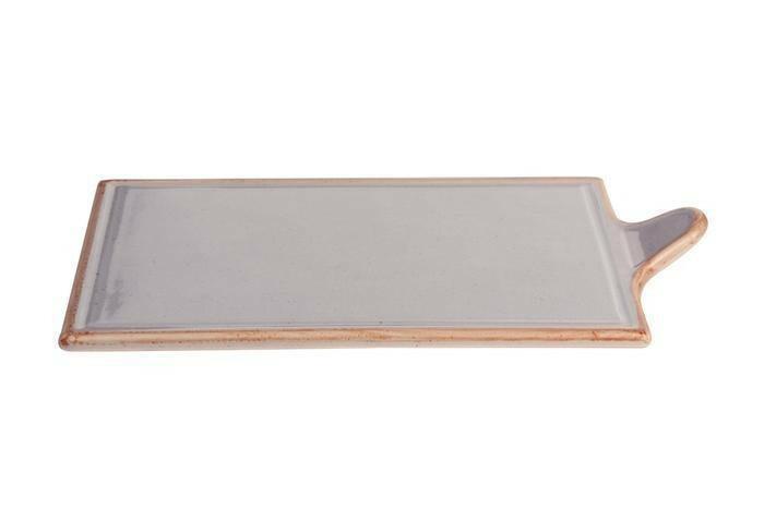 Porland Seasons Grey oblong bord met greep 34 x 21 cm