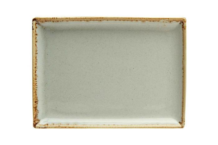 Porland Seasons Grey oblong bord 18 x 13 cm