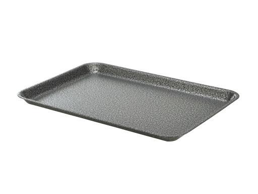 foodplateau gehamerd zilver gegalvaniseerd 37 X 26,5 cm