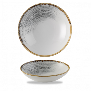 Studio Prints Raku Jasper Grey Accents coupe bowl 18,2 cm