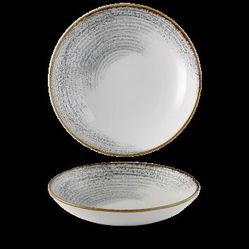 Studio Prints Raku Jasper Grey Accents coupe bowl 24,8 cm