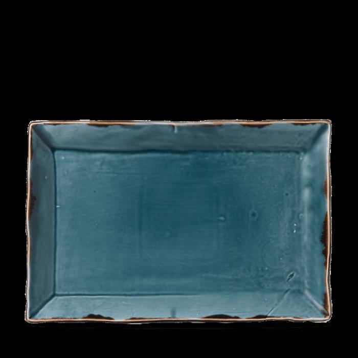Dudson Harvest Blue chefs' rectangular tray 28,7 x 19 cm