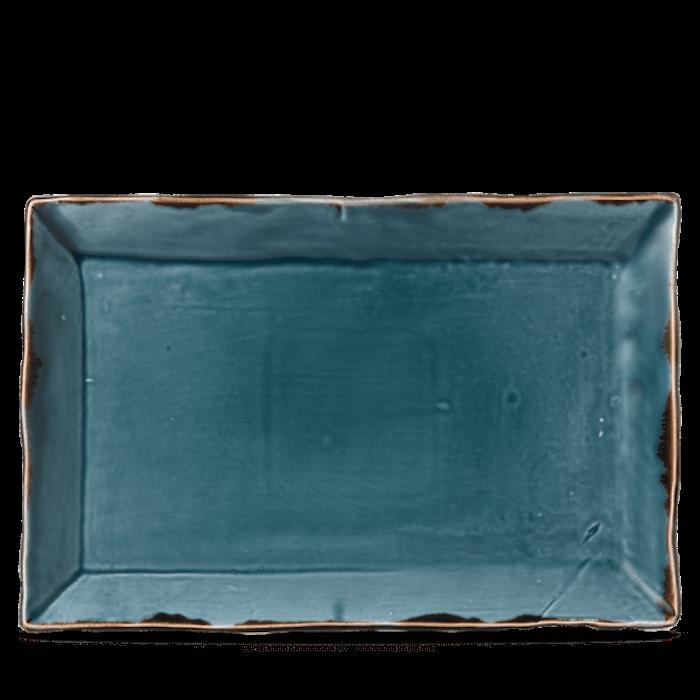 Dudson Harvest Blue chefs' rectangular tray 34,5 x 23,3 cm