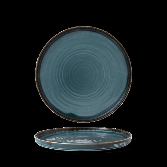 Dudson Harvest Blue walled plate 21 cm