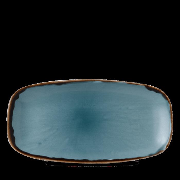 Dudson Harvest Blue chefs' oblong plate 29,8 x 15,3 cm