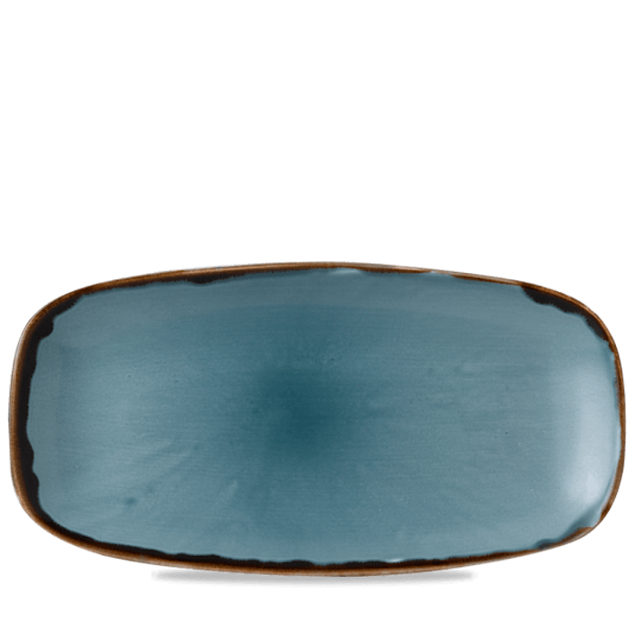 Dudson Harvest Blue chefs' oblong plate 35,5 x 18,9 cm