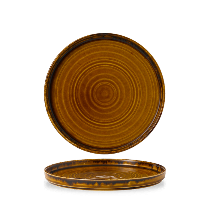 Dudson Harvest Brown walled plate 21 cm