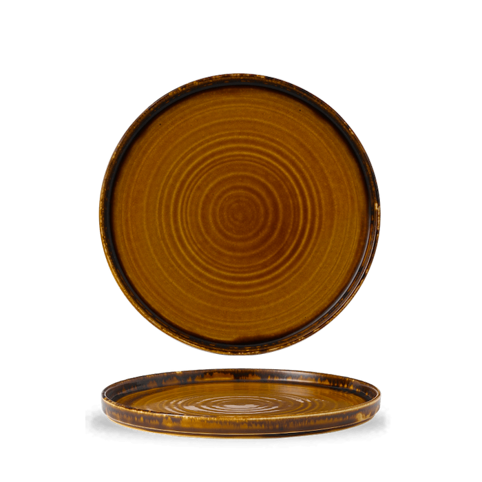 Dudson Harvest Brown walled plate 26 cm