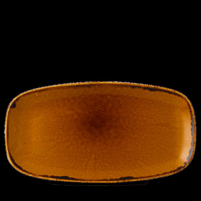 Dudson Harvest Brown chefs' oblong plate 35,5 cm x 18,9 cm